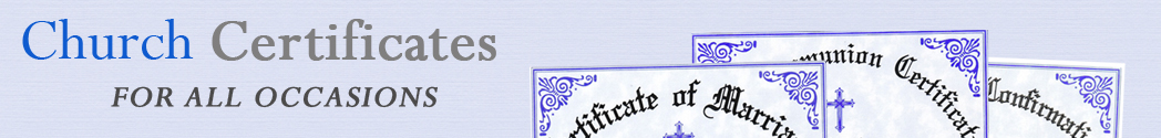 church certificate banner